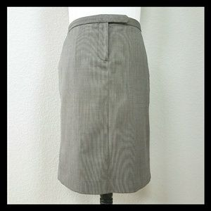J. Crew Gray Mini-Check Suit Skirt